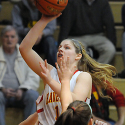 TOM KELLY IV &mdash; DAILY TIMES<br /> Haverford's Mollie Reynolds (14) goes up for a layup during the Ridley at Haverford girls basketball game, Friday night.