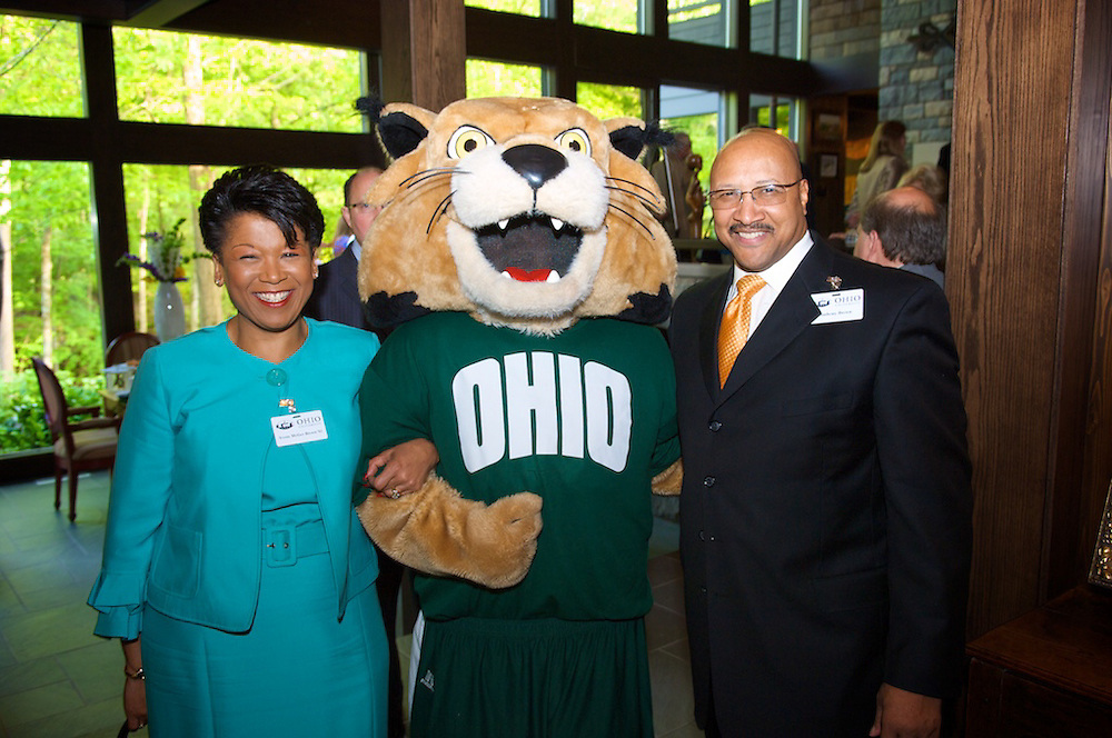 Yvette McGee Brown and Anthony Brown pose with Rufus