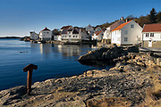 Traditional houses in the coastal village of Loshavn close to the southernmost tip of Norway.  A typical tourists place that was populated permanently a few dacdes back.  This was a busy place in the time of the sail-ships a couple of hundreds years back.