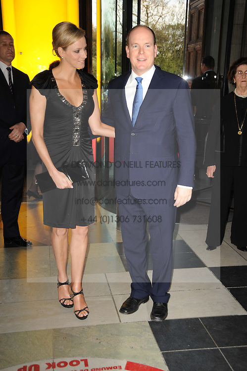 CHARLENE WITTSTOCK and  His Serene Highness PRINCE ALBERT OF MONACO at the opening of the Victoria & Albert Museum's latest exhibition 'Grace Kelly: Style Icon' opened by His Serene Highness Prince Albert of Monaco at the V&A on 15th April 2010.