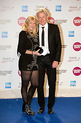 © London News Pictures. 08/12/2012. London, UK . Björn Borg and his wife Patricia arriving at  The Royal Albert Hall London for charity Centrepoint's Winter Whites Gala on December 08, 2012. . Photo credit: Ben Cawthra/LNP