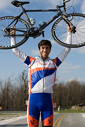 Virginia Cavaliers Michael Esbach..Members of the University of Virginia Cycling Team met at Reeds Gap on the Blue Ridge Parkway in Virginia on April 9, 2007 for a team photo shoot.