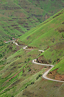 Oregon Highway 3 snakinbg its way into Grand Ronde Canyon