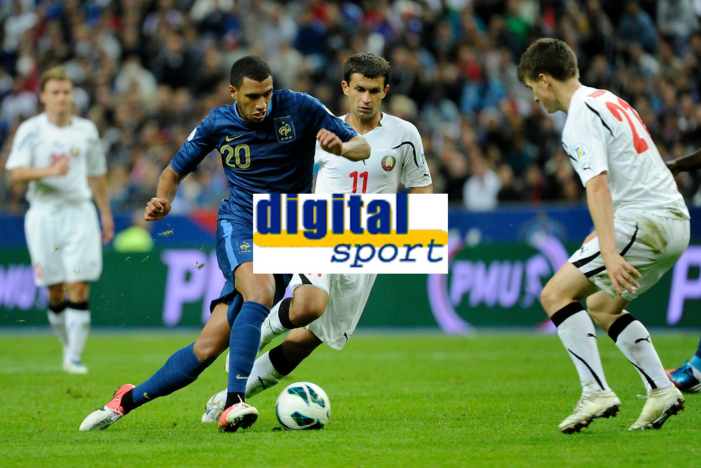 FOOTBALL - FIFA WORLD CUP 2014 - QUALIFYING - FRANCE v BIELORUSSIA - SAINT DENIS (FRANCE) - 11/09/2012 - PHOTO JEAN MARIE HERVIO / REGAMEDIA / DPPI - ETIENNE CAPOUE (FRA)