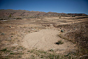 A sand trap on the abandoned  Northgate Golf Course in Reno, Nevada, May 22, 2012.