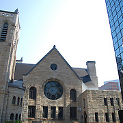 Westminster Presbyterian Church, Minneapolis, MN<br /> Westminster began as a gathering of eight people of Scottish, Irish and Welsh heritage in 1857. In 1860, the congregation built its first church, on Fourth Street between Nicollet and Hennepin Avenues in downtown Minneapolis. Because of the rapid growth of the congregation, the church soon outgrew its first location. In 1883, construction of a new, larger church began at Seventh Street and Nicollet Avenue.<br /> <br /> Twelve years after the opening of the second church site, the building was heavily damaged by a fire. This prompted yet another move when the church rebuilt to its current location at Twelfth Street and Nicollet Mall, opening its doors for services in 1897.