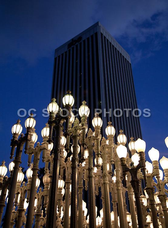 Urban Light Sculpture at Dusk