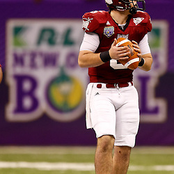 December 18, 2010; New Orleans, LA, USA; Troy Trojans quarterback Corey Robinson (6) against the Ohio Bobcats during the 2010 New Orleans Bowl at the Louisiana Superdome. Troy defeated Ohio 48-21. Mandatory Credit: Derick E. Hingle