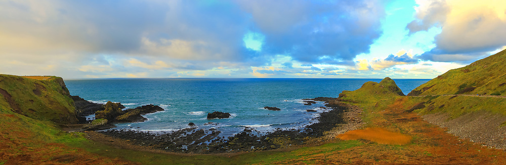 View overlooking Portnaboe near the Giant's Causeway on a cloudy day in November 2013