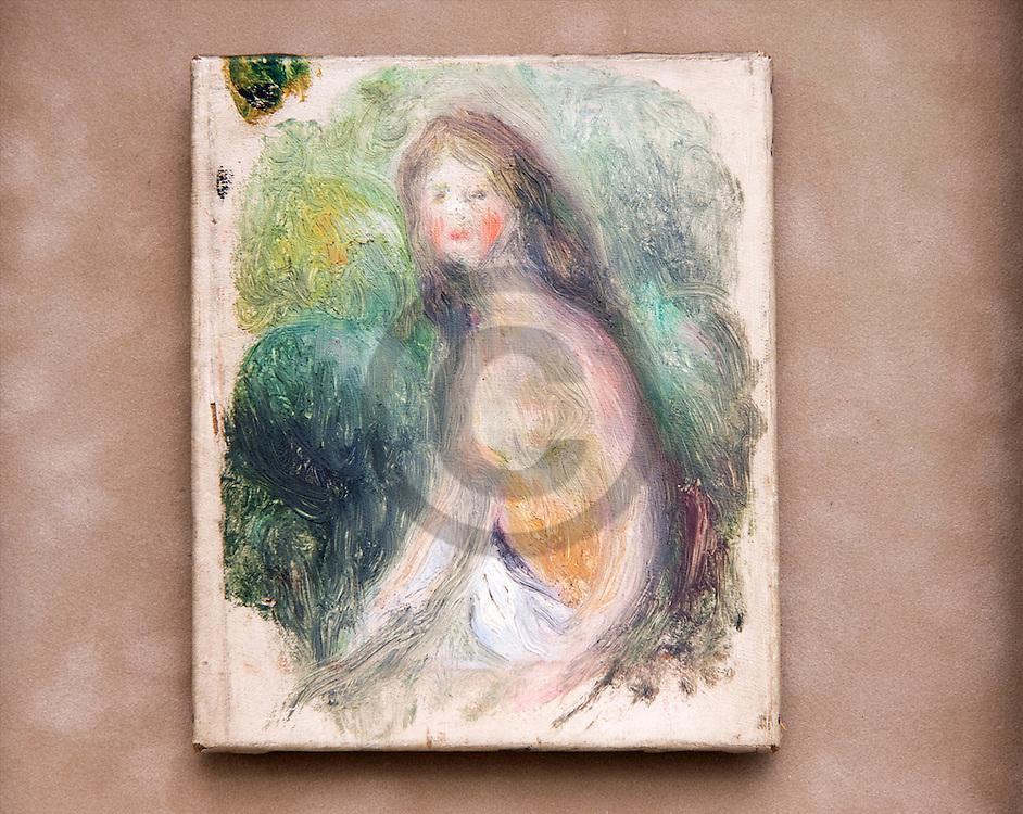 22/08/16 - AIX LES BAINS - SAVOIE - FRANCE - Collection de peintures et de sculptures impressionistes et pre impressionistes au Musee Jean FAURE - Photo Jerome CHABANNE