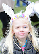 Sydney Stecklein, 6, of Feasterville, Pennsylvania shows off her bunny ears during an easter egg hunt sponsored by the Feasterville Business Association and the Friends of the Lower Southampton Library Saturday March 19, 2016 at Russell Elliot Park in Feasterville, Pennsylvania. (Photo By William Thomas Cain)