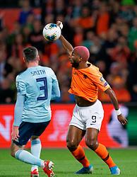 10-10-2019 NED: Netherlands - Northern Ireland, Rotterdam<br /> UEFA Qualifying round Group C match between Netherlands and Northern Ireland at De Kuip in Rotterdam / Ryan Babel #9 of the Netherlands, Michael Smith #3 of Northern Ireland