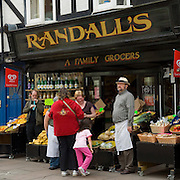 Randall's family grocer, High Street, Rochester, Kent, England