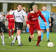 IRN BRU Scottish League First Division<br /> East End Park, Dunfermline, 01/12/2007<br /> Dundee's Kevin McDonald evades the clutches of Dunfermline's Darren Young.<br /> <br /> © David Young<br /> <br /> Monifieth<br /> Dundee