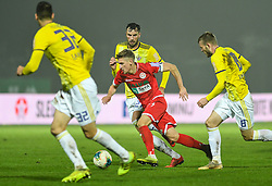 Amir Dervišević of Maribor and Matic Vrbanec of Aluminij during football match between NK Aluminij and NK Maribor in 18th Round of Prva liga Telekom Slovenije 2019/20, on November 24, 2019 in Sportni park Aluminij, Kidricevo Slovenia. Photo by Milos Vujinovic / Sportida