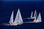 Axia, Sojana, and Twizzle  during the 2011  St. Barths Bucket Regatta Race 3.