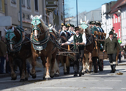 02.04.2018, Traunstein, GER, Georgi Ritt Traunstein 2018, im Bild Trachtenwagen // during the traditionell Georgi Ritt on Easter Monday in. in Traunstein, Germany on 2018/04/02. EXPA Pictures © 2018, PhotoCredit: EXPA/ Erst Wukits