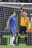 russian referee gives yellow card to  John Terry (L)