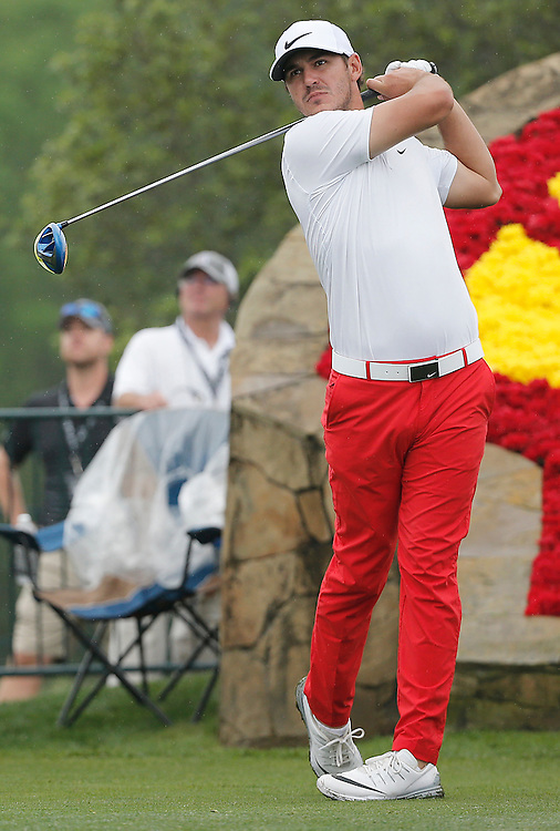 Brooks Koepka drives off of the 18th tee in the Shell Houston Open-Round 1 at the Golf Club of Houston on Wednesday, March 31, 2016 in Humble, TX. (Photo: Thomas B. Shea/For the Chronicle)