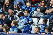Young Osprey fans during the European Rugby Challenge Cup match between Ospreys and ASM Clermont Auvergne at The Liberty Stadium, Swansea on 15 October 2017. Photo by Andrew Lewis.