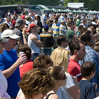 (PPAGE1) Monmouth Park 5/13/2006 A nice healthy crowd on hand for opening day at Monmouth Park Bugler .  Michael J. Treola Staff Photographer.....MJT
