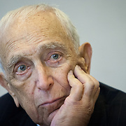 Senator Frank Lautenberg (D-NJ) listens to Chief Council, Ben Dunham, inside his office in Washington following a hearing to vote for an Obama administration nominee on Thursday, May 16, 2013.  Sen. Lautenberg had not been in Washington since February 28, as weakness in his legs has prevented him from traveling to the Capitol. He died only a few weeks later, on June 3, 2013. John Boal Photography