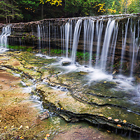 Sideview of Au Train Falls, near Munising, MI