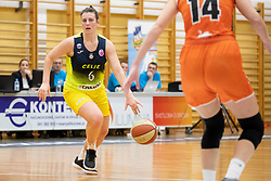 Aleksandra Kroselj of ZKK Cinkarna Celje in action during basketball match between ZKK Cinkarna Celje (SLO) and MBK Ruzomberok (SVK) in Round #6 of Women EuroCup 2018/19, on December 13, 2018 in Gimnazija Celje Center, Celje, Slovenia. Photo by Urban Urbanc / Sportida