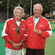 Lorne Main, Canada, (left) and Gordon Verge, Canada, Winners, 75 Mens Doubles during the 2009 ITF Super-Seniors World Team and Individual Championships at Perth, Western Australia, between 2-15th November, 2009.