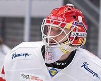 2019-12-14 | Umeå, Sweden: Almtuna (25) Jesper Eliasson  in HockeyAllsvenskan during the game  between Björklöven and Almtuna at A3 Arena ( Photo by: Michael Lundström | Swe Press Photo )<br /> <br /> Keywords: Umeå, Hockey, HockeyAllsvenskan, A3 Arena, Björklöven, Almtuna, mlba191214
