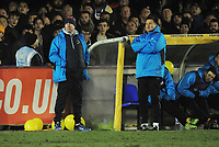 Football - 2016 / 2017 FA Cup 3rd rd Replay AFC Wimbledon vs Sutton United<br /> <br /> Sutton Manager Paul Doswell (right) and coach Ian Baird at The Cherry red records stadium.<br /> <br /> COLORSPORT/ANDREW COWIE