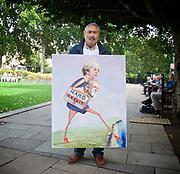 Kaya Mar - political artist <br /> in Parliament Square, London, Great Britain <br /> 6th September 2017 <br /> <br /> <br /> <br /> <br /> <br /> <br /> <br /> Photograph by Elliott Franks <br /> Image licensed to Elliott Franks Photography Services