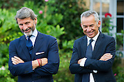 August 14-16, 2012 - Lamborghinis at Pebble Beach: Development chief, Maurizio Reggiani and CEO Stephan Winkelmann