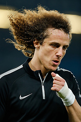 Former Chelsea player David Luiz of Paris Saint-Germain looks on in the wrmup - Photo mandatory by-line: Rogan Thomson/JMP - 07966 386802 - 11/03/2015 - SPORT - FOOTBALL - London, England - Stamford Bridge - Chelsea v Paris Saint-Germain - UEFA Champions League Round of 16 Second Leg.