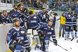 22.04.2015, Saturn Arena, Ingolstadt, GER, DEL, ERC Ingolstadt vs Adler Mannheim, Playoff, Finale, 6. Spiel, im Bild Enttaeuschte Ingolstaedter nach der Niederlage<br />ERC Ingolstadt - Adler Mannheim, Eishockey, DEL, Deutsche Eishockey Liga, DEL-Playoff- Finalserie Spiel 6, 22.04.2015, Foto: Eibner // during Germans DEL Icehockey League 6th final match between ERC Ingolstadt and Adler Mannheim at the Saturn Arena in Ingolstadt, Germany on 2015/04/22. EXPA Pictures © 2015, PhotoCredit: EXPA/ Eibner-Pressefoto/ Strisch<br /> <br /> *****ATTENTION - OUT of GER*****