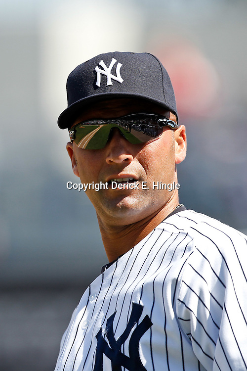 March 4, 2012; Tampa Bay, FL, USA; New York Yankees shortstop Derek Jeter (2) against the Philadelphia Phillies during spring training game at George M. Steinbrenner Field. Mandatory Credit: Derick E. Hingle-US PRESSWIRE