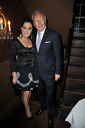 NANCY DELL'OLIO and HAROLD TILLMAN at a party to celebrate the publication of her new book - Kelly Hoppen: Ideas, held at Beach Blanket Babylon, 45 Ledbury Road, London W11 on 4th April 2011.