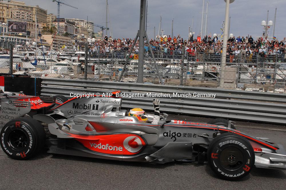 Monaco 25.05.2008 - Formula 1 Grand Prix of Monaco -Lewis Hamilton, McLaren Mercedes, Sieg,   2008 - Monte Carlo, Formel 1 -  F1 GP de Monaco - <br /> Foto: &copy; ATP Thomas Melzer