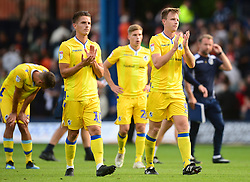 Tony Craig of Bristol Rovers and Tom Nichols of Bristol Rovers clap the traveling fans - Mandatory by-line: Alex James/JMP - 15/09/2018 - FOOTBALL - Kenilworth Road - Luton, England - Luton Town v Bristol Rovers - Sky Bet League One
