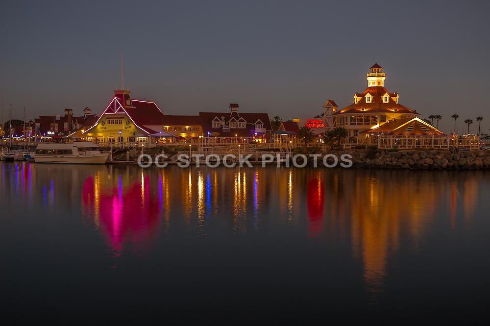 Long Beach Rainbow Harbor at Night