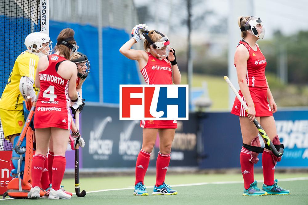 AUCKLAND - Sentinel Hockey World League final women<br /> Match id 10293<br /> 03 England v Germany <br /> Foto: Penalty corner defense England.<br /> WORLDSPORTPICS COPYRIGHT FRANK UIJLENBROEK