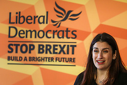 © Licensed to London News Pictures. 14/11/2019. London, UK. Luciana Berger gives an emotional speech at Glaziers Hall, London for the Lib Dems Press Conference. Luciana Berger and Chuka Umunna unveil the Lib Dems party's Plan for Equalities and Human Rights. The plan is at the heart of the party's vision to build a brighter future for everyone. Photo credit: Alex Lentati/LNP