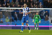 Brighton winger, Jamie Murphy (15) during the Sky Bet Championship match between Brighton and Hove Albion and Birmingham City at the American Express Community Stadium, Brighton and Hove, England on 28 November 2015. Photo by Phil Duncan.