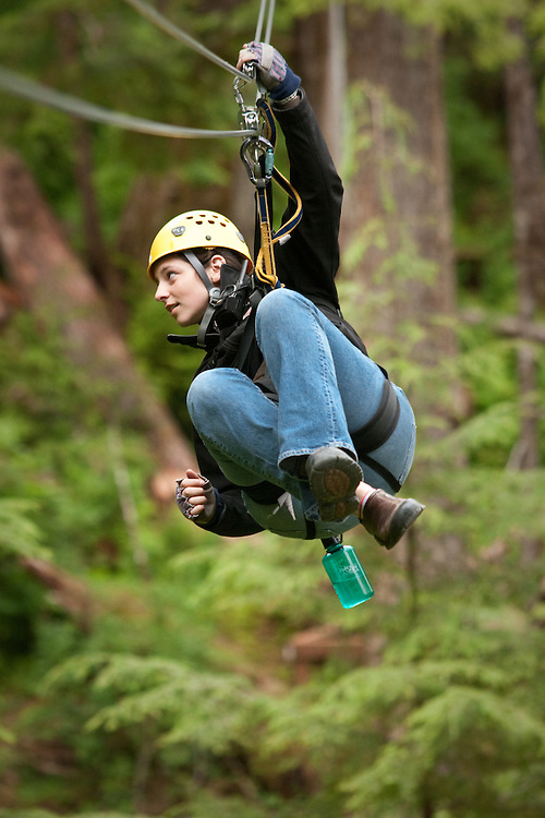 Bear Creek Zip Line at the Alaska Rainforest Sanctuary (Alaska Rainforest/Canopy Tours) Ketchikan, Alaska