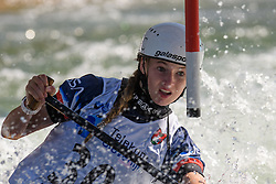 Evy LEIBFARTH of United States of America during the Canoe Single (WC1) Womens Semi Final race of 2019 ICF Canoe Slalom World Cup 4, on June 30, 2019 in Tacen, Ljubljana, Slovenia. Photo by Sasa Pahic Szabo / Sportida