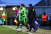 Forest Green Rovers Dayle Grubb(8) comes on to make his debut for Forest Green during the EFL Sky Bet League 2 match between Forest Green Rovers and Port Vale at the New Lawn, Forest Green, United Kingdom on 6 January 2018. Photo by Shane Healey.