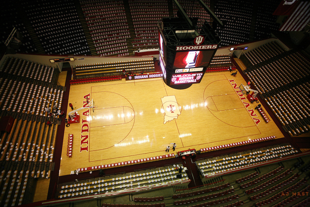 13 February 2008: \An Empty Assembly Hall \ as the Indiana Hoosiers played the Wisconsin Badgers in a college basketball game in Bloomington, Ind., Ind.