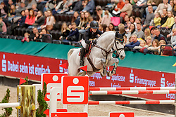 BORMANN Finja (GER), Grey Chester<br /> Leipzig - Partner Pferd 2020<br /> FUNDIS Youngster Tour<br /> 2. Qualifikation für 7jährige Pferde <br /> Springprfg. nach Fehlern und Zeit, int.<br /> Höhe: 1.35 m<br /> 18. Januar 2020<br /> © www.sportfotos-lafrentz.de/Stefan Lafrentz