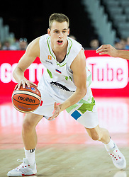 Klemen Prepelic of Slovenia during basketball match between Slovenia vs Netherlands at Day 4 in Group C of FIBA Europe Eurobasket 2015, on September 8, 2015, in Arena Zagreb, Croatia. Photo by Vid Ponikvar / Sportida