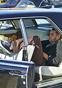 A young man sleeping in a Hotrod car, Viva Las Vegas Festival, Las Vegas, USA 2006.